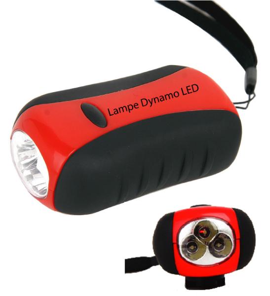 lampe dynamo led lampe torche 3 leds accessoires de camping. Black Bedroom Furniture Sets. Home Design Ideas