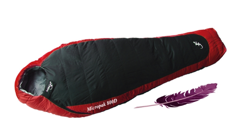 sac de couchage micropak 800d sacs duvet l ger freetime. Black Bedroom Furniture Sets. Home Design Ideas