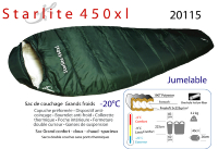 Sacs grands froid - Sac de couchage grands froid -20°C - Starlite 450xl