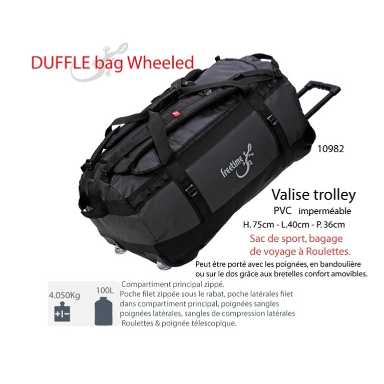 20a44ad870 ... Valise trolley- Duffel bag 100 L- Sac de voyage à roulettes