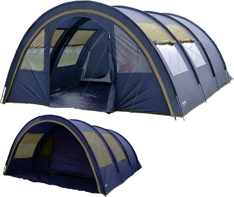 Tente familiale 6 7 personnes tente de camping familiale for Toile de tente 4 chambres