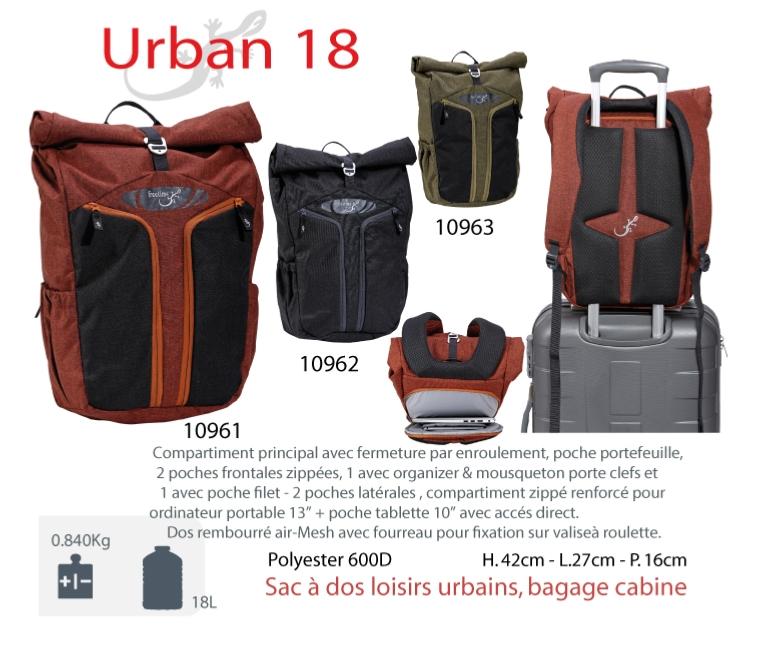 e73d2bbcacbc8 URBAN 18 L-Sac à dos ordinateur portable 13