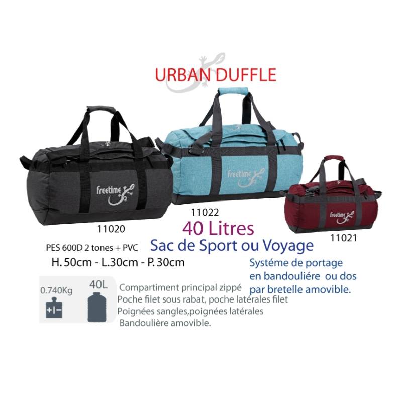 75406729f0 ... Sac de sport 40 L - Urban Duffle 40 L - sacs de voyage pour expédition